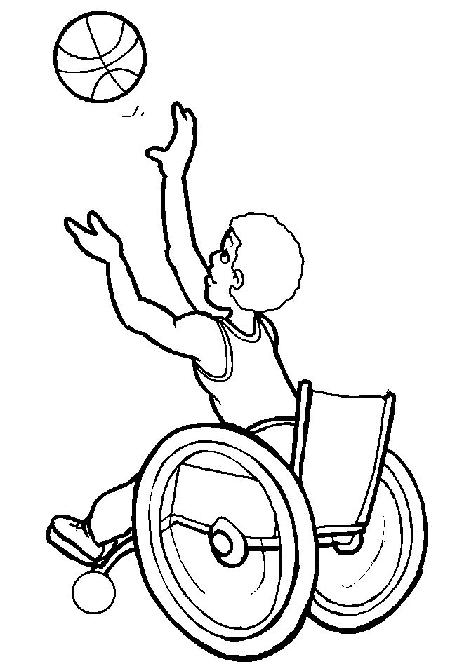 athlete basketball disabilities coloring page disabilities day pinterest coloring pages. Black Bedroom Furniture Sets. Home Design Ideas