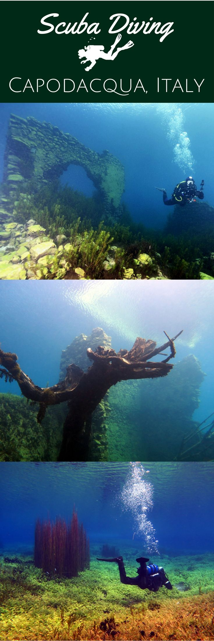 See Rome & Dive in Capo d'Acqua, Italy - Scuba diving in Capodacqua Lake submerged medieval village & visiting Rome - World Adventure Divers