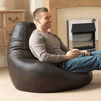 Faux leather giant bean bag chairs read the reviews here http://www.besttoysforboys.co.uk/best-giant-bean-bag-chairs/