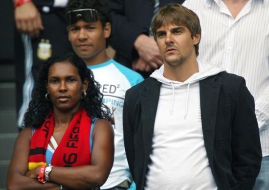 German footballer Sebastian Deisler and gf Eunice