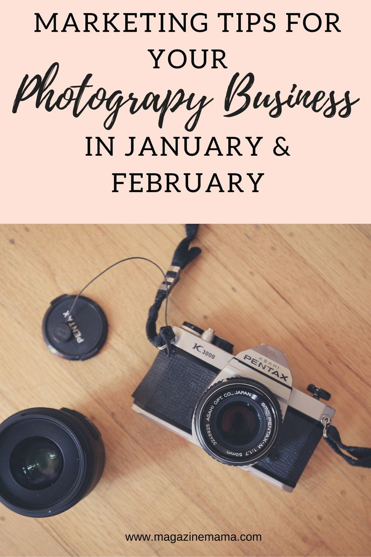 It's a known fact that January and February are slow months for almost every photography business.  Overall, most photographers will find the first two months of the year rather difficult if they haven't taken the time to prepare their finances for the slower months. If you're looking for ideas to bring in additional income during January and February, here are some photography marketing tips and ideas. #photographybusiness  #photographymarketing