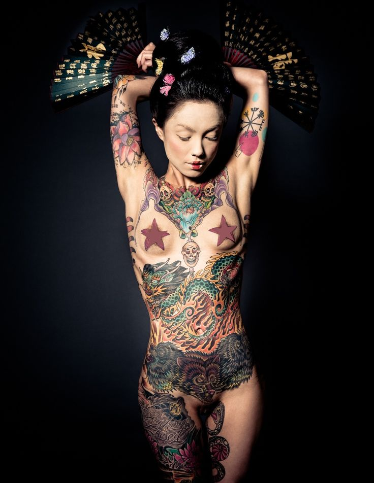 Tattooed Ginzilla lensed by Reka Nyari