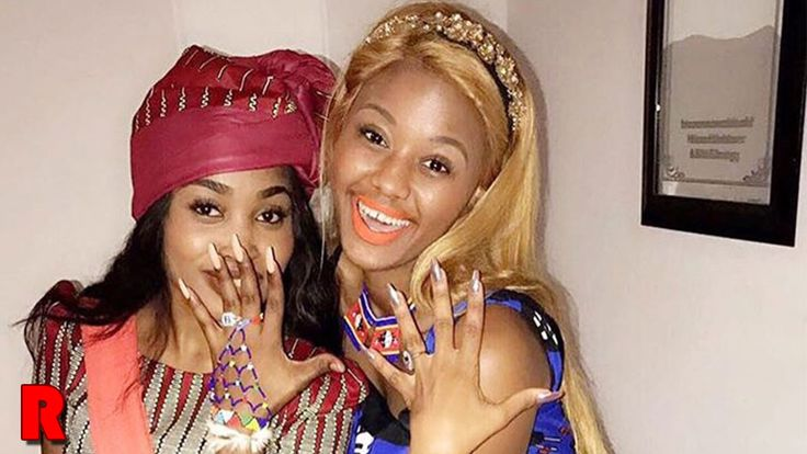 Babes Wodumo shows of her engagement ring in an Instagram post. She is captured posting with a woman who also has a ring on her finger.
