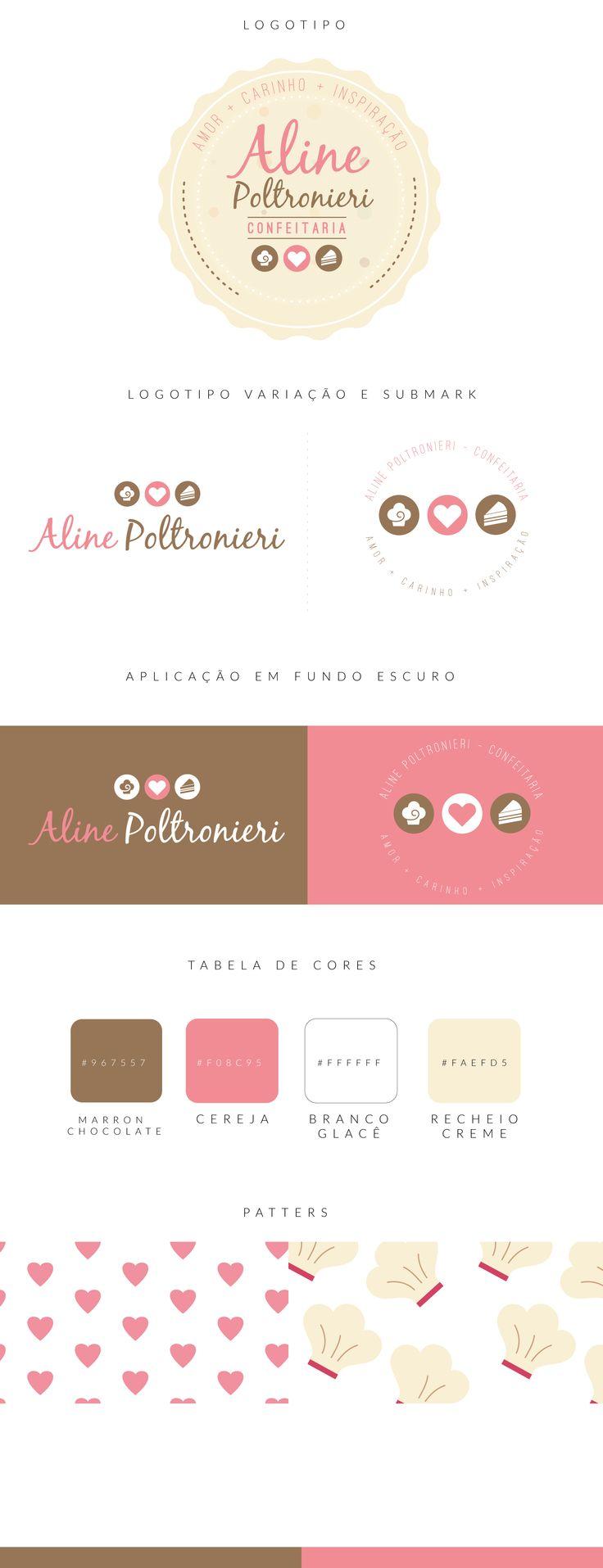 Logotipo Confeitaria Aline Poltronieri                                                                                                                                                                                 Más