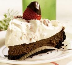 Chocolate-Dipped Strawberry French Silk Pie