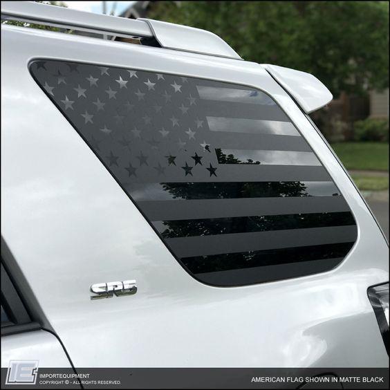 Toyota 4Runner American Flag Window Decal 2010 - 2017 5th Gen, IMPORTequipment