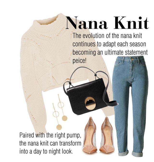 """""""Nana Knits!"""" by alana-alford on Polyvore featuring Gianvito Rossi, Isabel Marant, Marni and Cloverpost"""