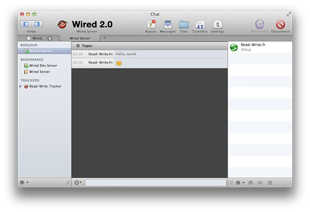 Wired - http://wired.read-write.fr/overview.html: BBS for the 21st century, with beautiful chat boards, private messaging, bots and file transfers using strong security.