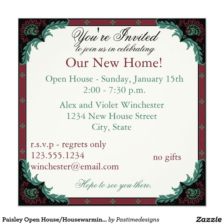 11 best open house invite images on pinterest open house paisley open househousewarming party 525x525 square paper invitation card stopboris Gallery