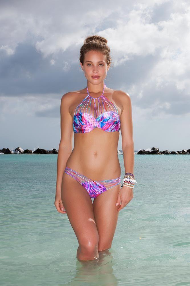 Wild Sun Haut de bikini Push-Up Bonnet F-HH, Multicolore