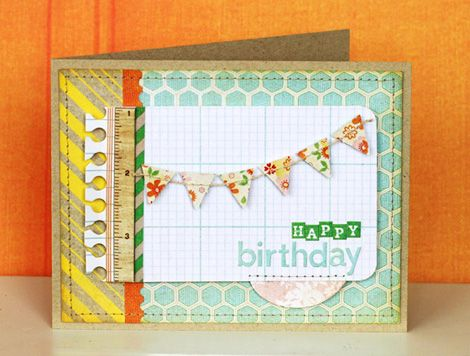simple and sweet design for a birthday card. Kelly Rasmussen.