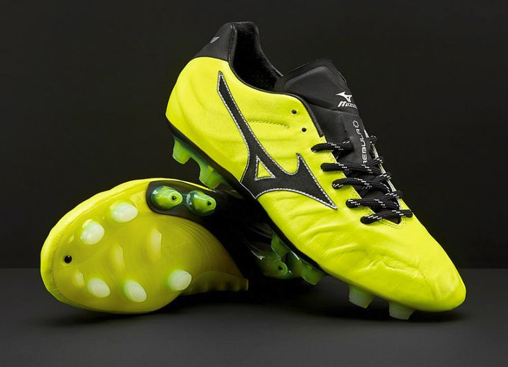 #football #soccer #futbol #footballboots #Mizuno Mizuno Rebula V1 Made in Japan MD - Safety Yellow / Black / Silver