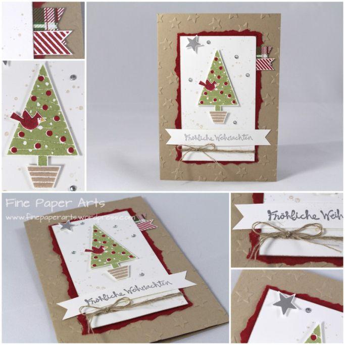 Weihnachtskarte Christbaumfestival