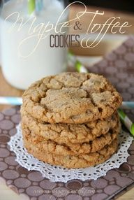 Maple Toffee Cookies