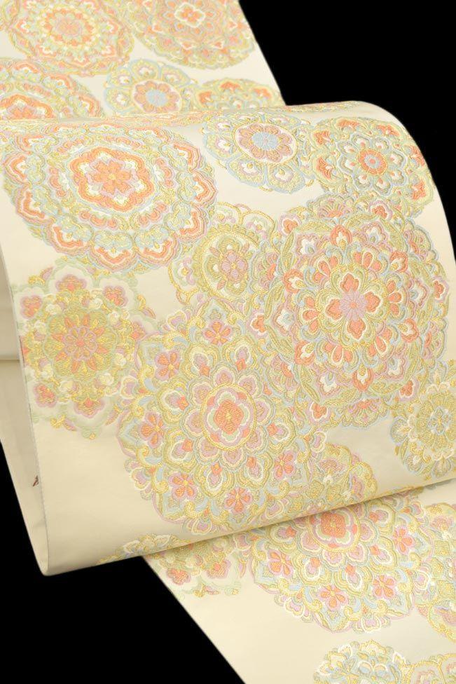 【泰生織物】 特選西陣織袋帯 「華紋重ね文様」