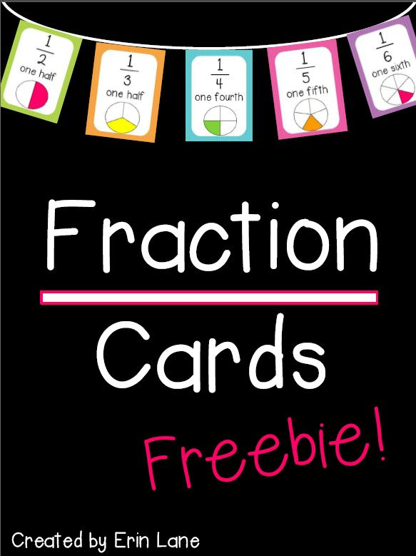 """FREE, colorful fraction cards to display! You can follow my store to have access to all of my """"Follower Freebies!"""""""