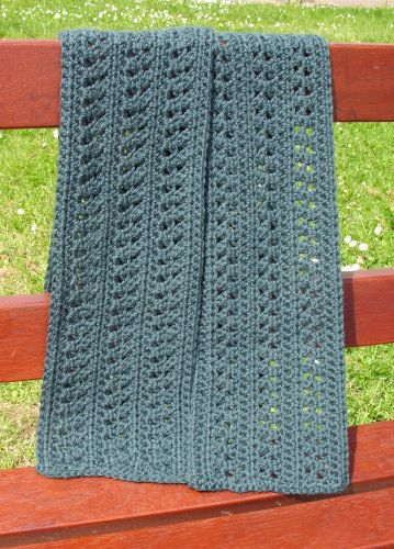 "free crochet scarf pattern, ""acacia"" i used 10 rows instead of 14 and it turned out great!"
