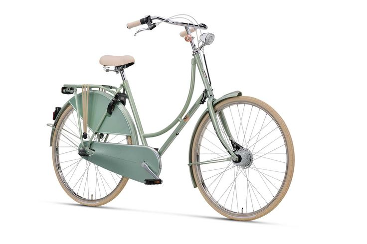 #classic #dutch #bike with #modern #color #crystal #green - Batavus Old Dutch