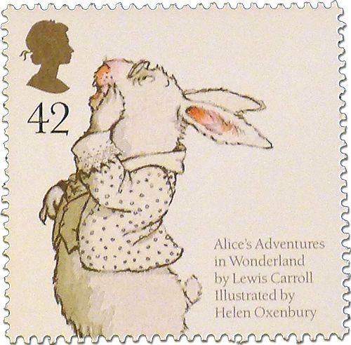 Алиса в стране чудес 2006 Великобритания иллюстратор - Хелен Oxenbury марка