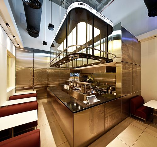 Redefining The Burger ARCHJS Crafts Upscale Johnny Rockets In Kuwait Cafe InteriorInterior Design