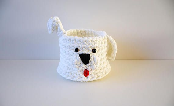 Crochet Basket Dog Crochet Basket Puppy Crochet Dog Crochet