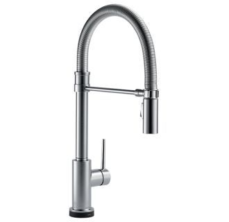 View the Delta 9659T-DST Trinsic Pro Pre-Rinse Pull-Down Kitchen Faucet with On/Off Touch Activation, Magnetic Docking Spray Head - Includes Lifetime Warranty (5 Year on Electronic Parts) at FaucetDirect.com.