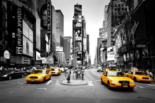 Times Square - Cabs Colorsplash - Fototapeter & Tapeter - Photowall