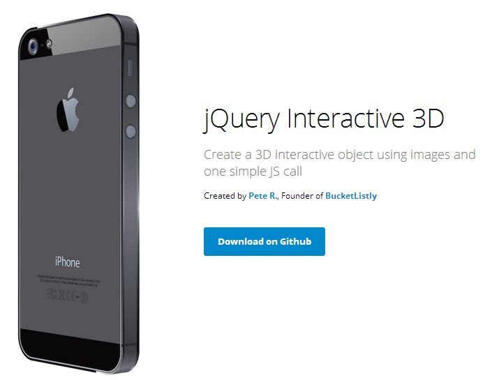 jQuery Interactive 3D – Create a 3D Interactive Object Easier