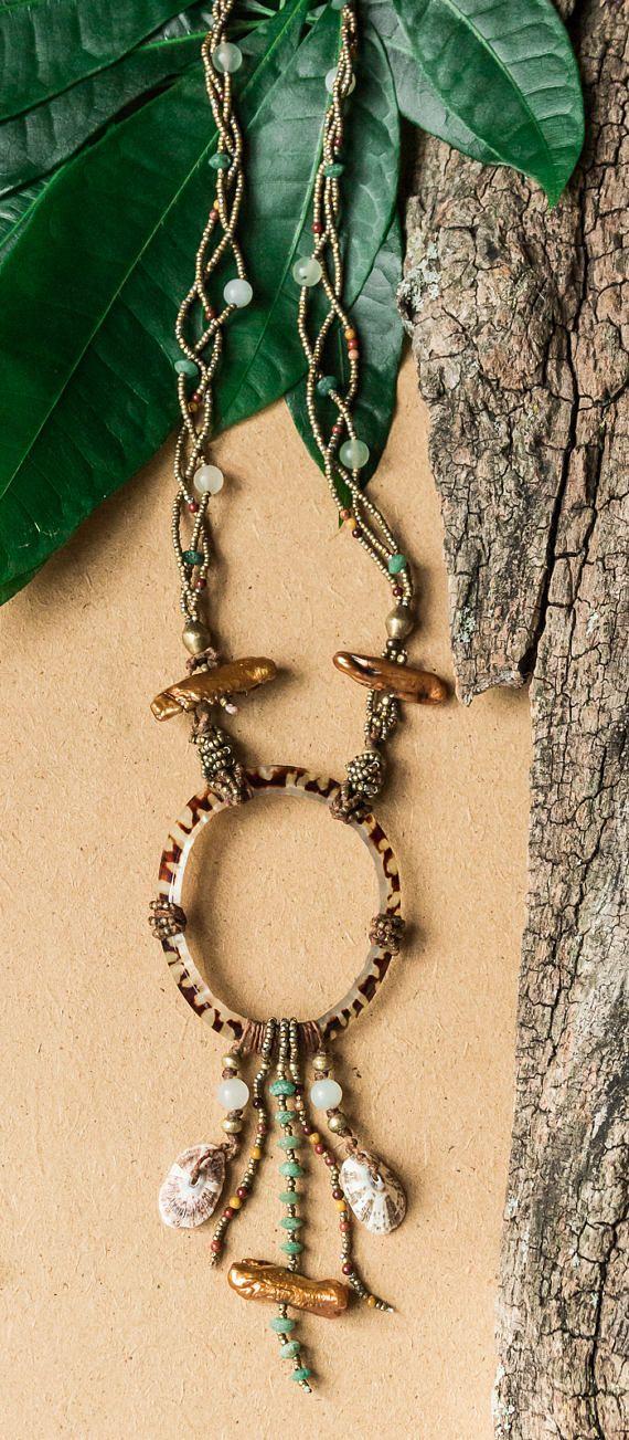 Shamanic tribal inspired necklace/ OOAK/ shaman necklace/