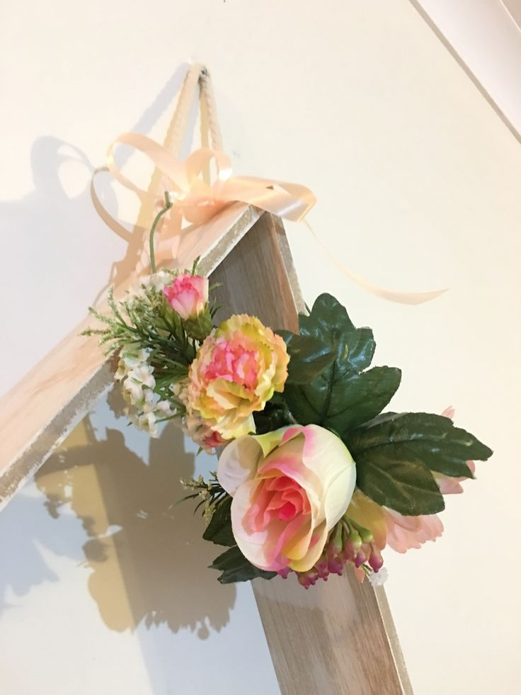 Rose and carnation flower crown