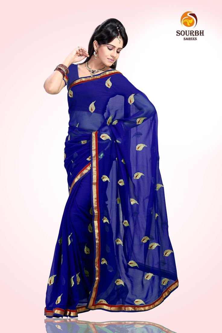 The classic ethical Indian designer wedding and party wear saree.