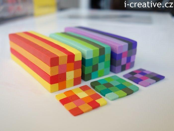 FIMO - jak na kostkovaný vzor s pomocí extrudéru