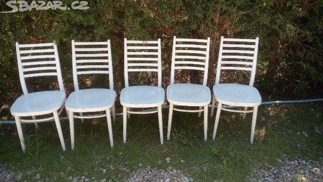 Bílá jídelní židle. - obrázek číslo 1