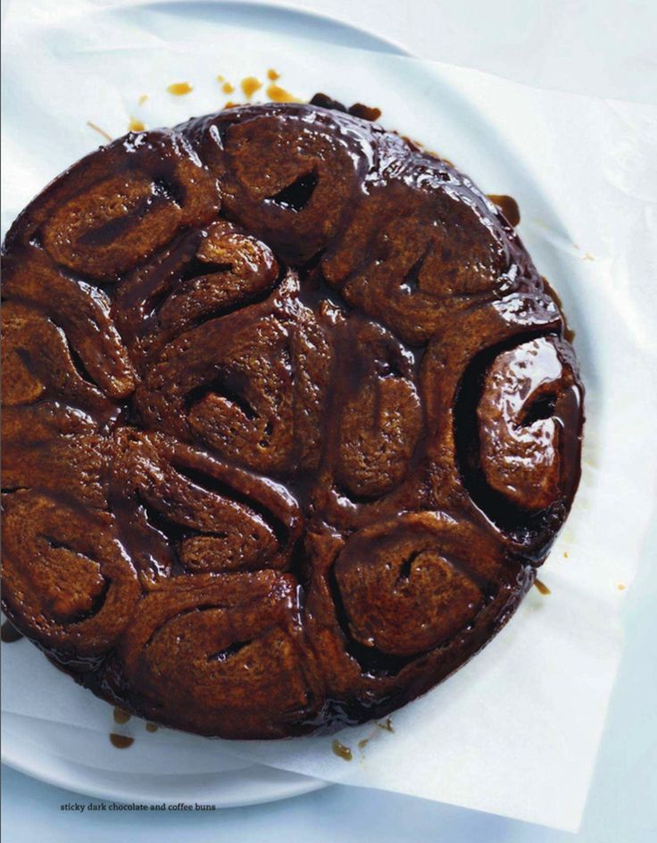 DONNA HAY'S STICKY DARK CHOCOLATE & COFFEE BUNS ~~~ while the above image is from donna's magazine, you will find attached to this link one of my favorite bloggers having a go at it. [Donna Hay] [milk-and]