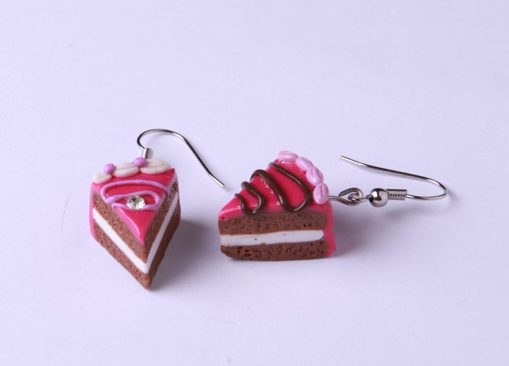 """Polymer Clay """"Short Skirt, Long Jacket"""" earrings by milk+biscuit, $22"""