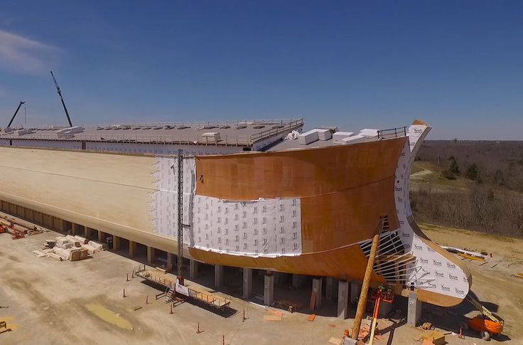 "An enormous model of Noah's ark is rising in Kentucky. Ken Ham, the man behind it, wants to use the boat to promote his belief in ""young earth"" creationism."