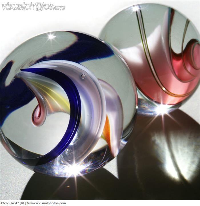 JP: GLASS MARBLES: Colour-Twirls - John Wilkes- posted through Corbis Premium RF Agency