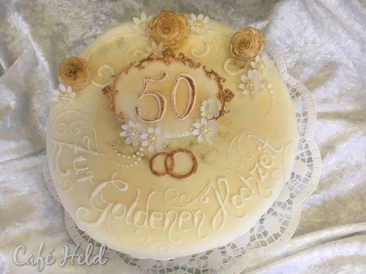 Goldene Hochzeitstorte/Hochzeitstorte bestellen - zur Feier des Tages