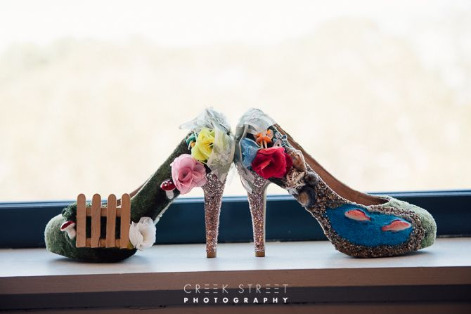 Bride Getting Ready At Quest - amazing shoes