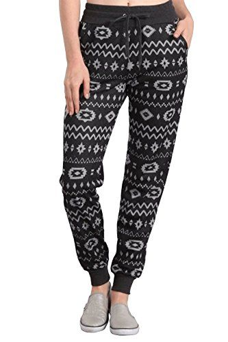 Womens Marijuana Leaves Printed French Terry Joggers Pants PFT1477 - 420 Shop