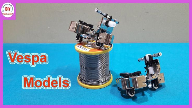 HOW TO MAKE A MINI VESPA WITH CHEAP LIGHTERS | VESPA MODELS