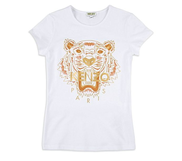 Base Childrenswear Introduces Kenzo for SS17 - Girls Gold Tiger Tee