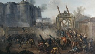 The Storming the Bastille July 14TH 1789, parisian revolutionaries, bastille prison, protest, king louis xvi, start of the french revolution, the french revolution, french history