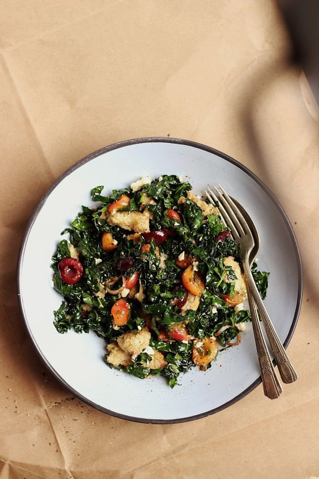 Roasted Cherry Panzanella Salad