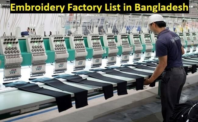 Embroidery factory list in Bangladesh | Fiber2Apparel