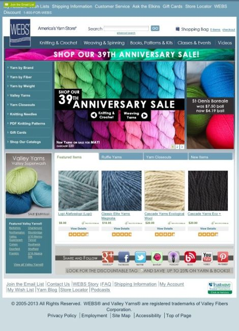Thanks for the WEBS online shopping love! >> KNITTING 101: ONLINE RESOURCES via Fibre and Spice blog