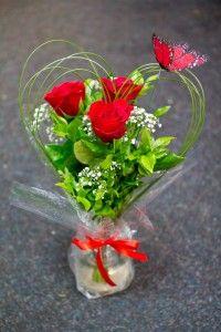 Heart wedding flowers