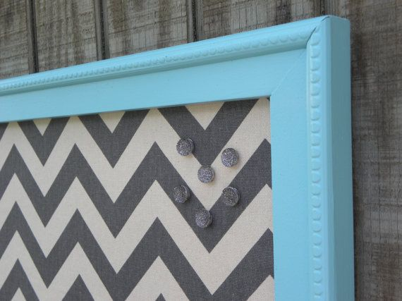 Turquoise bulletin board LARGE Cork Board Jewelry board by MyPerch, $55.00