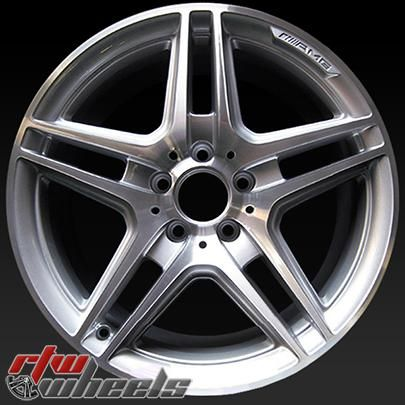 """Mercedes C250 wheels for sale 2012-2015. 18"""" Machined rims 85057 - http://www.rtwwheels.com/store/shop/18-mercedes-c250-wheels-for-sale-machined-silver-85057/"""