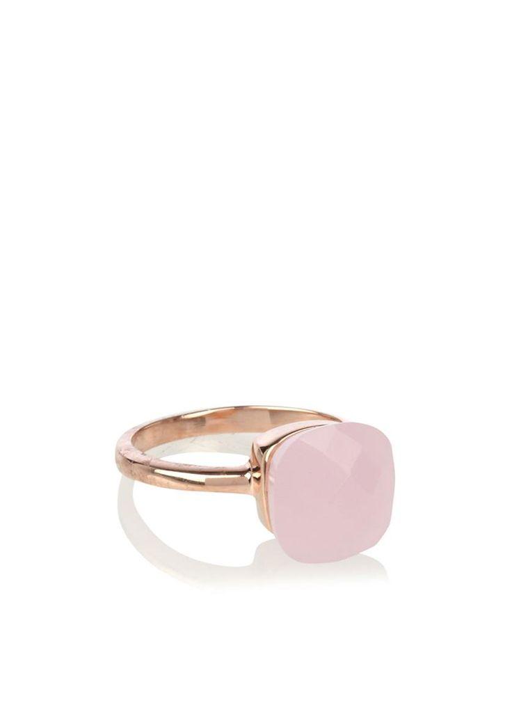 Noelia Thames Ring met lichtroze steen